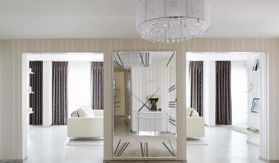 Зеркала на стенах в интерьере