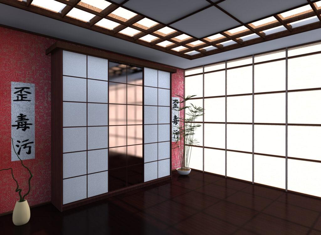 раздвижные двери японский стиль