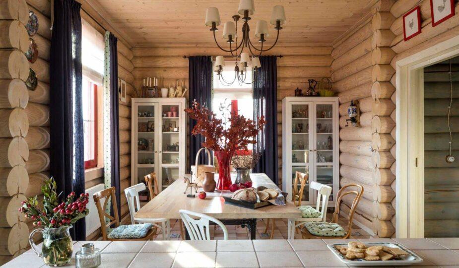 Интерьер загородных деревянных домов