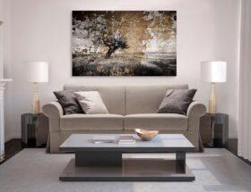 Картины в интерьере гостиной в современном стиле