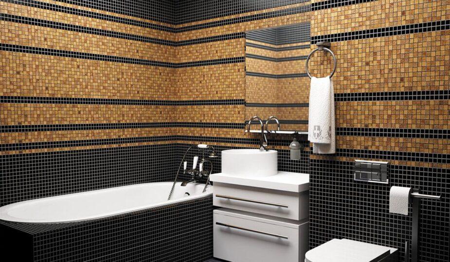 Мозаика в ванной комнате дизайн