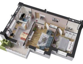 Планировка двухкомнатной квартиры