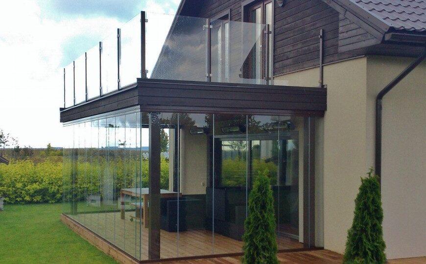 Терраса с балконом