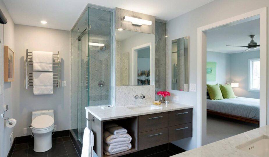 Идеи интерьеров ванной комнаты совмещенной с туалетом