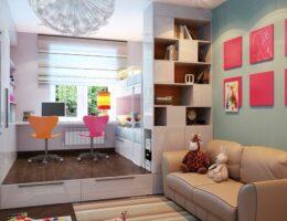 Как обустроить однокомнатную квартиру для двоих