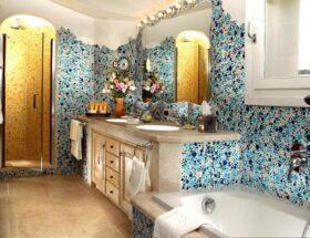 Как с помощью мозаики преобразить интерьер ванной