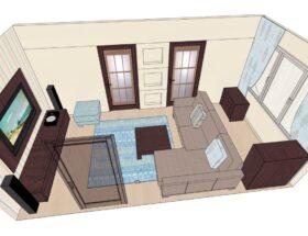 Правила расстановки мебели в комнатах