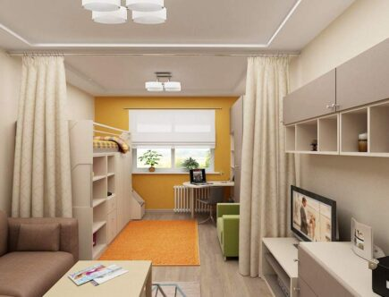 Зонирование однокомнатной квартиры для семьи